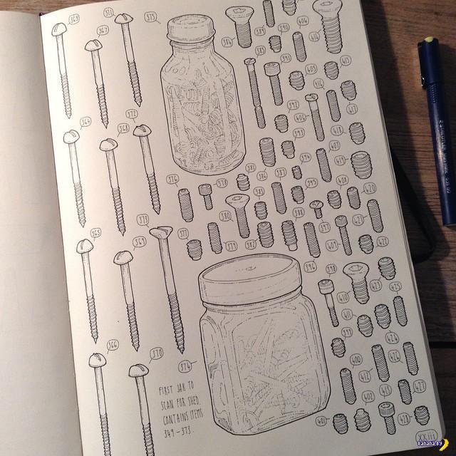 Художник взялся зарисовать все предметы из мастерской деда