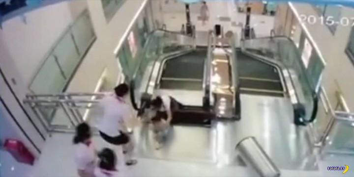 Эскалатор-убийца в Китае