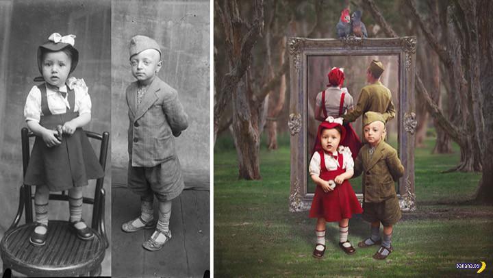 Старые фотографии: новая жизнь немного сюра