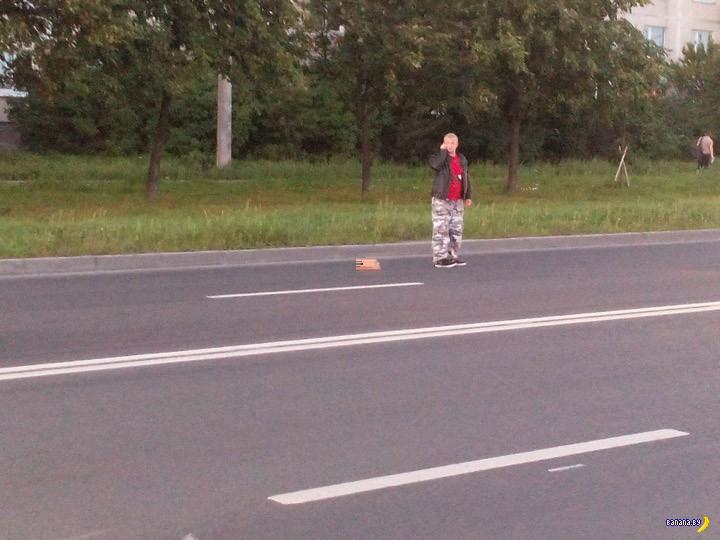 Жесть с мотоциклистом в Петербурге