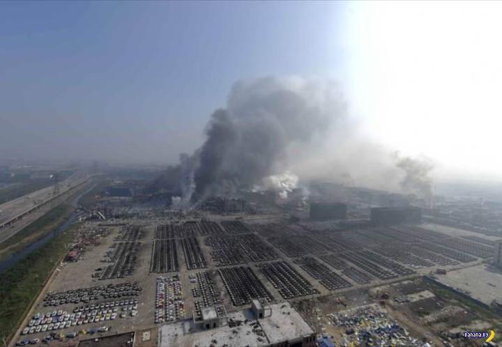 Фотографии из китайского порта после взрыва