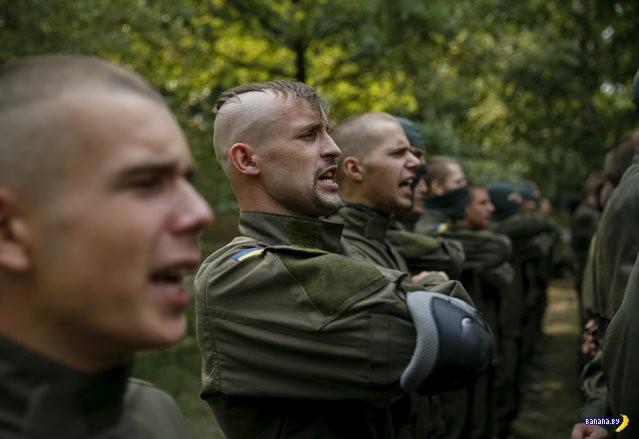 """Подготовка добровольцев в батальоне """"Азов"""""""