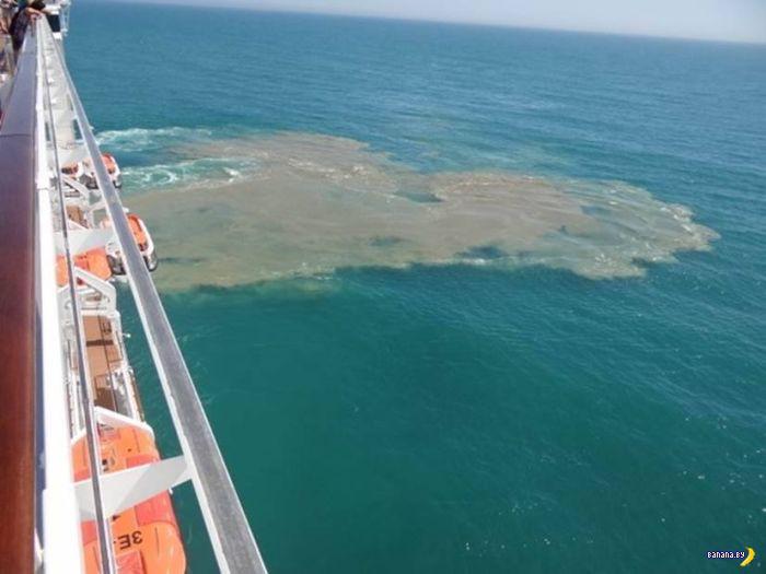 Круизный лайнер пукнул