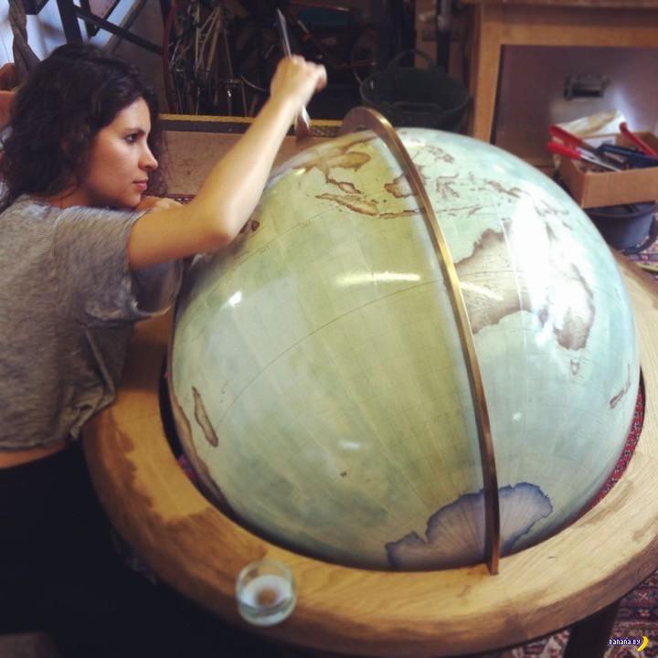 Есть такая работа –глобусы создавать
