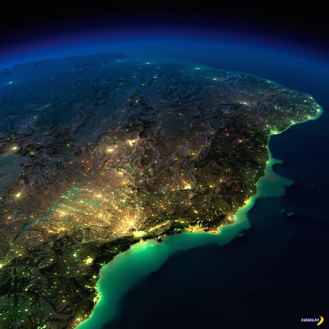 Ночные города из космоса