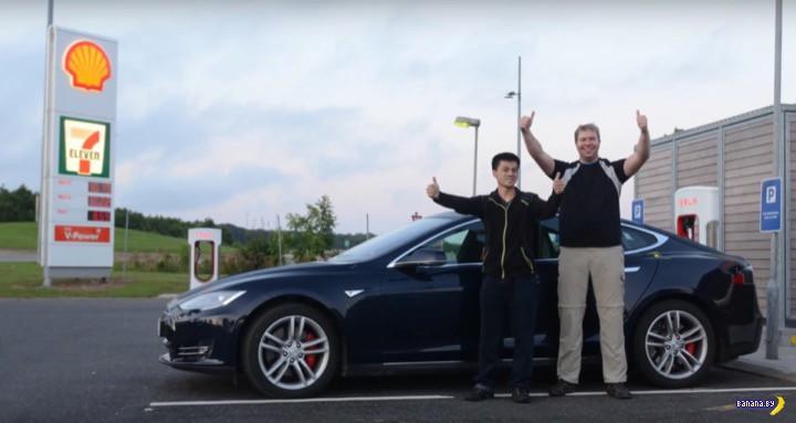 Tesla Model S поставила рекорд дальнобойности