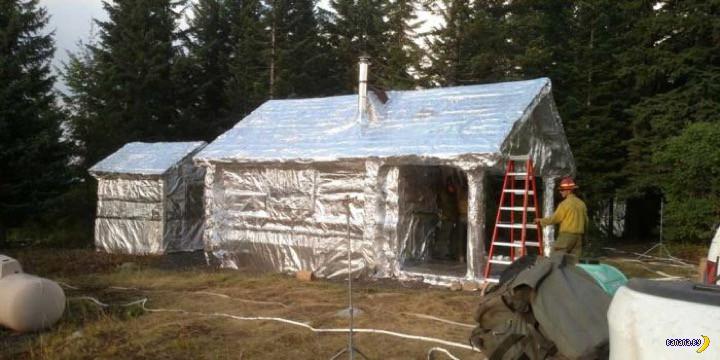 Как спасти деревянный дом от лесного пожара?