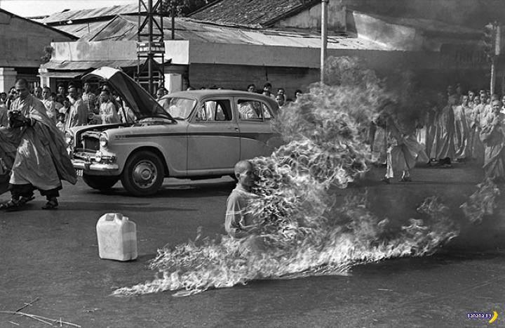 Как мог Тхить Куанг Дык терпеть боль от огня?