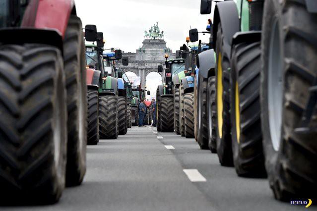 Фермеры громят Брюссель
