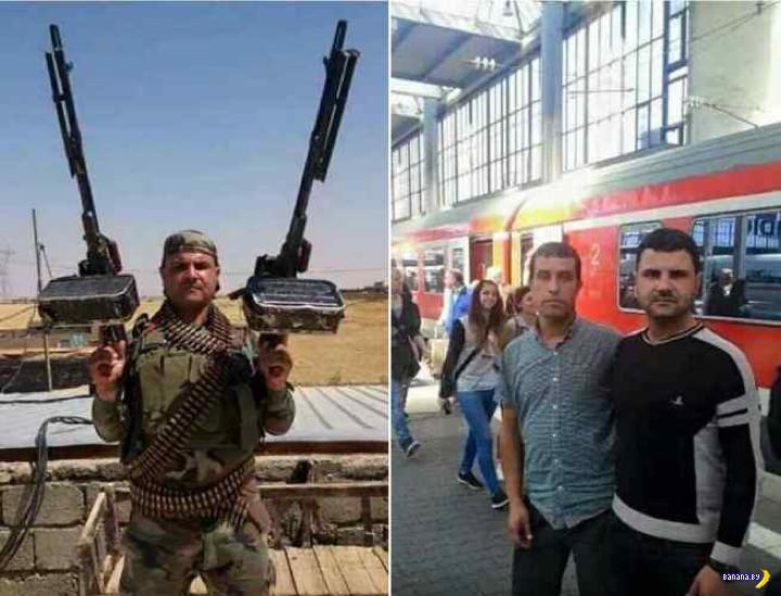 Беженцы-боевики и контейнеры с оружием