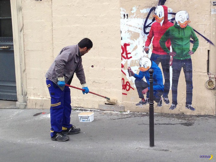Троллинг от уличного художника