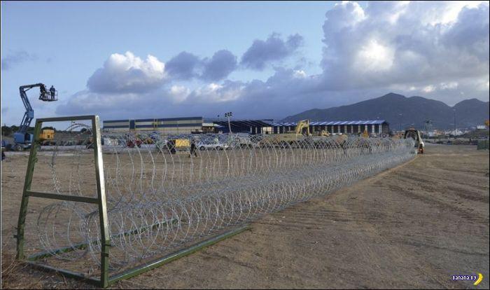 Мобильный забор против беженцев
