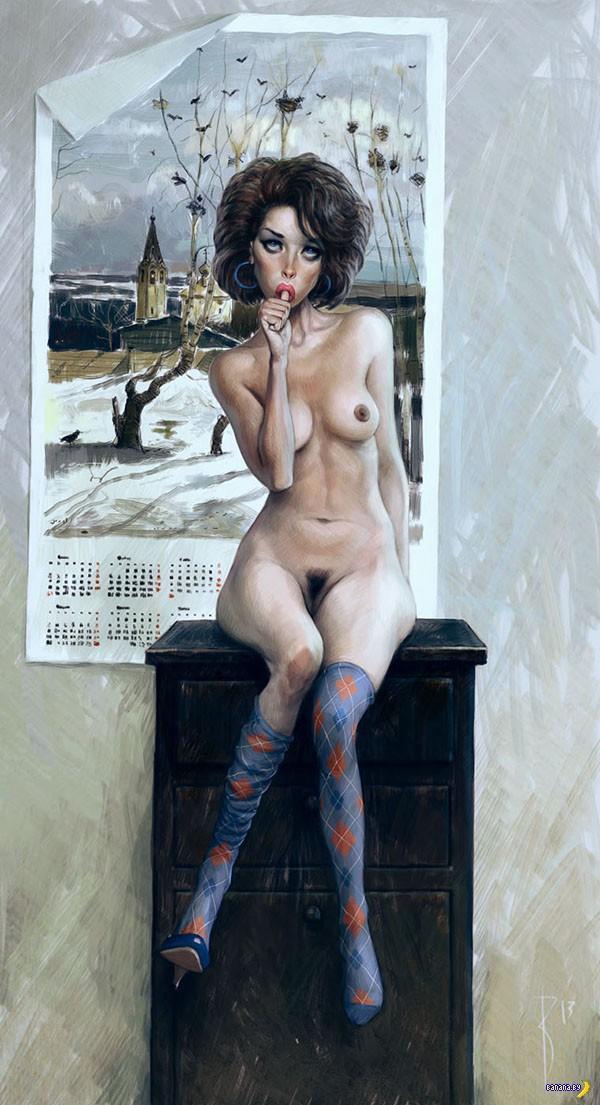 Рисует Вольдемар фон Казак
