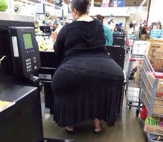 Покупатели из магазинов Walmart