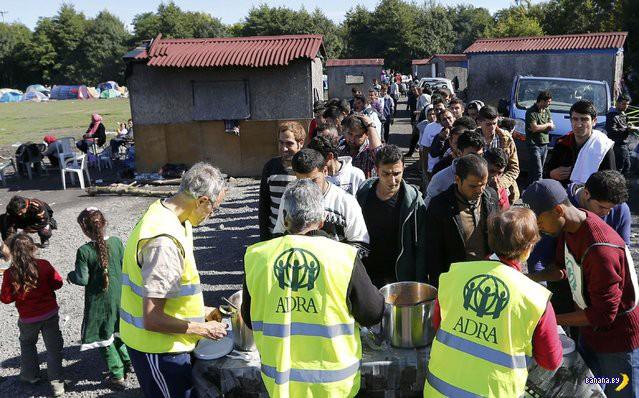 Осадный лагерь сарацинов в Кале