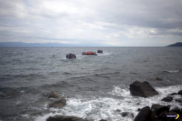 Беженцы - высадка в Европе
