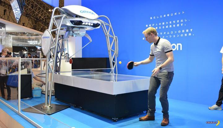 Робот и настольный теннис