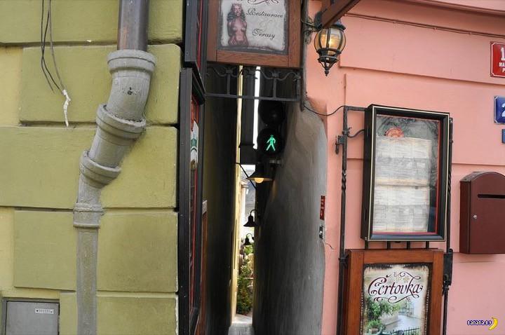 Светофор на самой узкой пражской улице