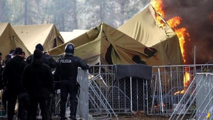 Сарацины сжигают свои лагеря
