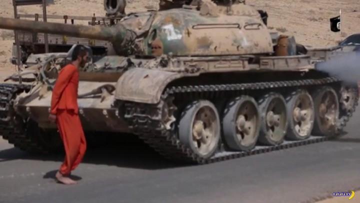 В ИГИЛ казнят танком
