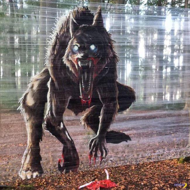 Напугать собачников