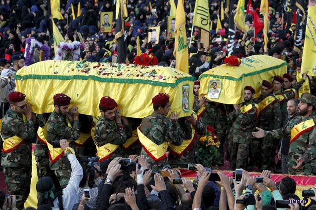 Обычные похороны в Южном Ливане