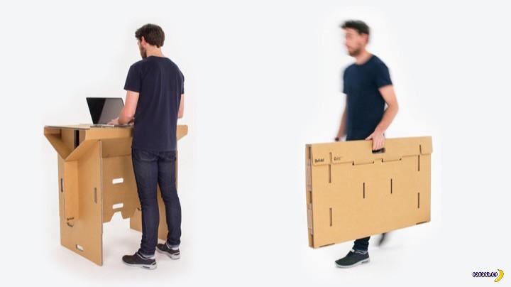 Раскладное картонное рабочее место