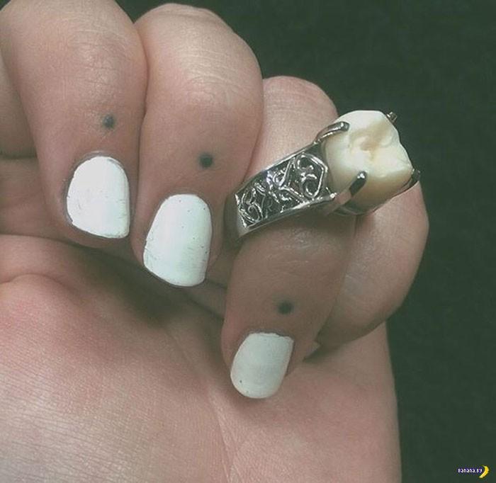 Кольцо на помолвку с зубом мудрости