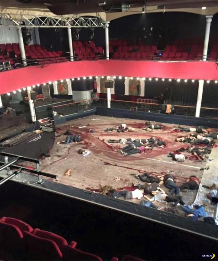 Одно фото из театра Батаклан