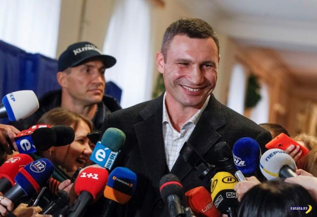 Реакция Кличко на атаку FEMEN