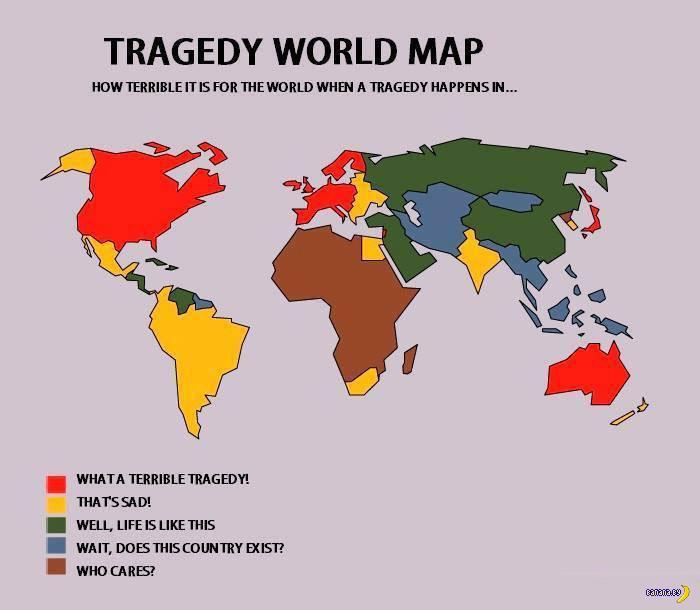 Карта трагедий в мире