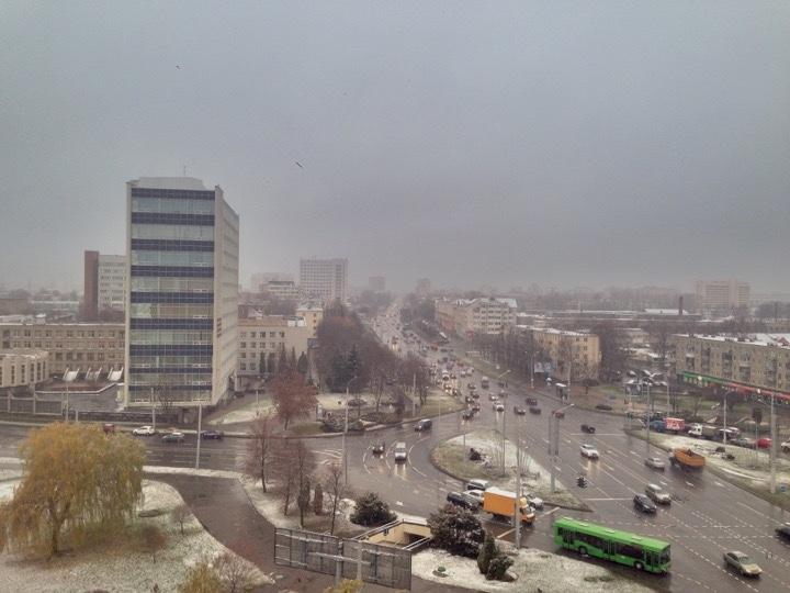 Погода: мокрый снег и дожди