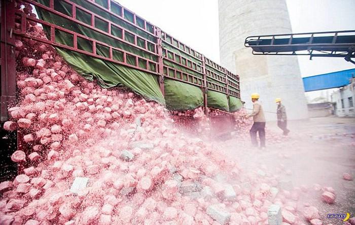 Китайцы сжинают деньги для отопления