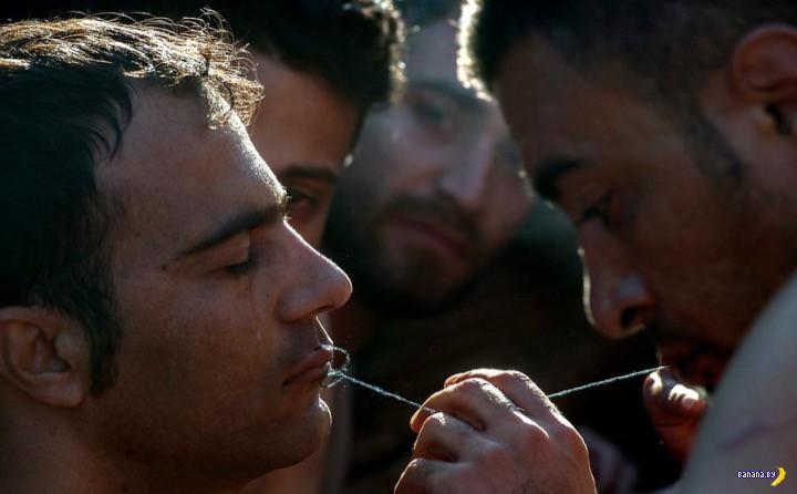 Беженцы в Европе зашивают себе рты