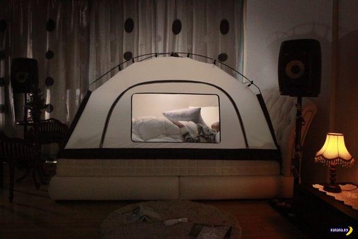 Кровать с палаткой