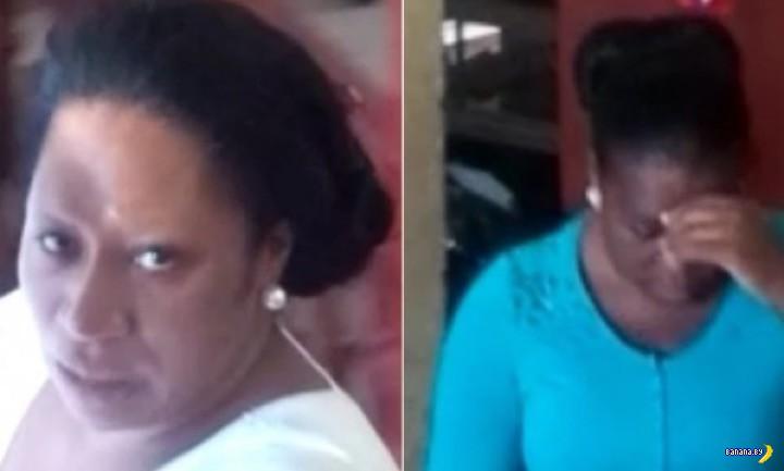 Два дилдо с кокаином в двух негритянках