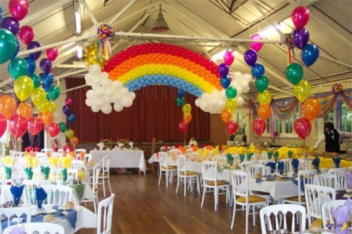 Воздушные шары и атмосфера праздника