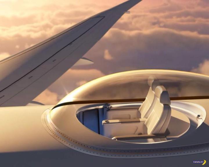 Развлечение для богатых пассажиров в полёте