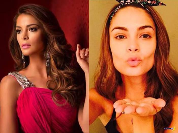"""Участницы """"Мисс Вселенная"""" с макияжем и без"""