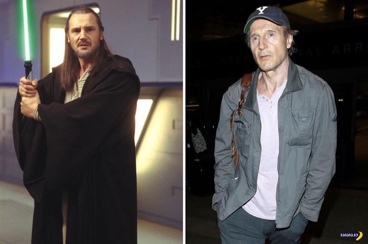 """Актеры из разных частей """"Звездных Войн"""" раньше и сейчас"""