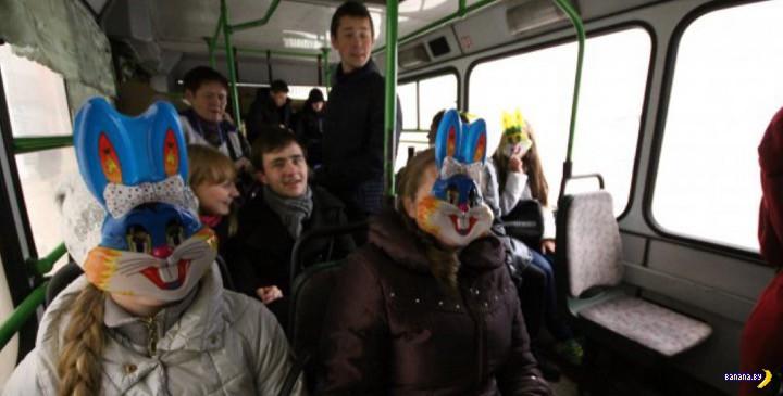 Минский общественный транспорт в новогоднюю ночь