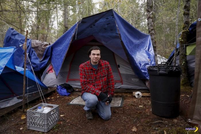 Палаточный лагерь бездомных в Аризоне