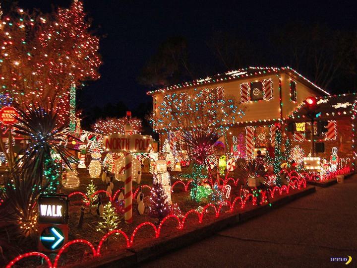 Во что обходится рождественская подсветка домов в США?