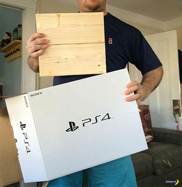 Деревянный Playstation 4
