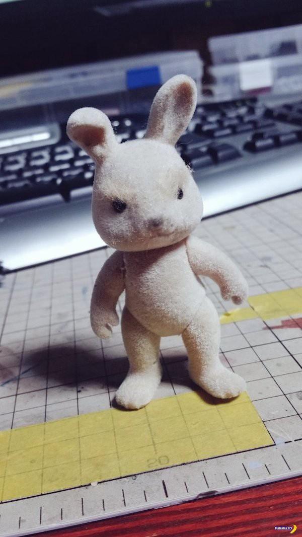 Зайчик в баночке –прокачка дешевой игрушки