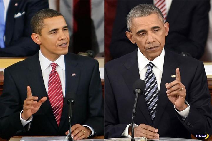 Обама заметно постарел
