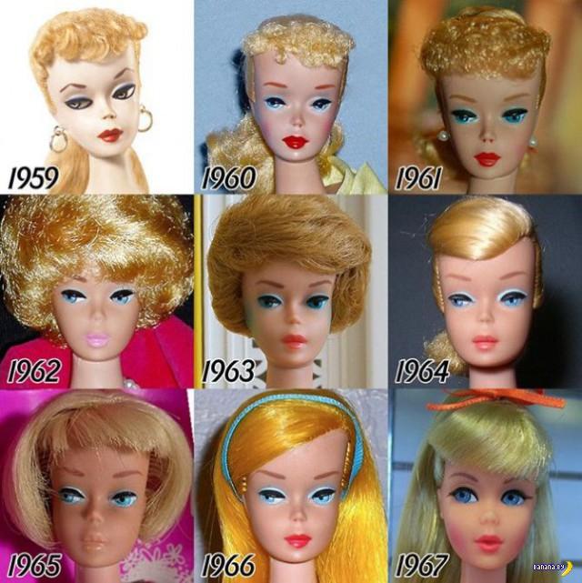 Эволюция куклы Барби