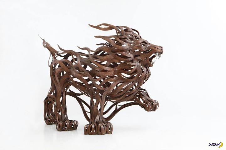 Скульптуры из стальных лент