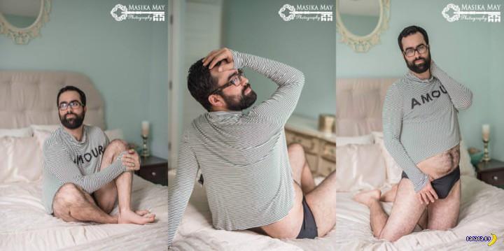 Мужик и будуарные фотографии