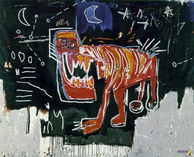 Рисует Жан-Мишель Баския